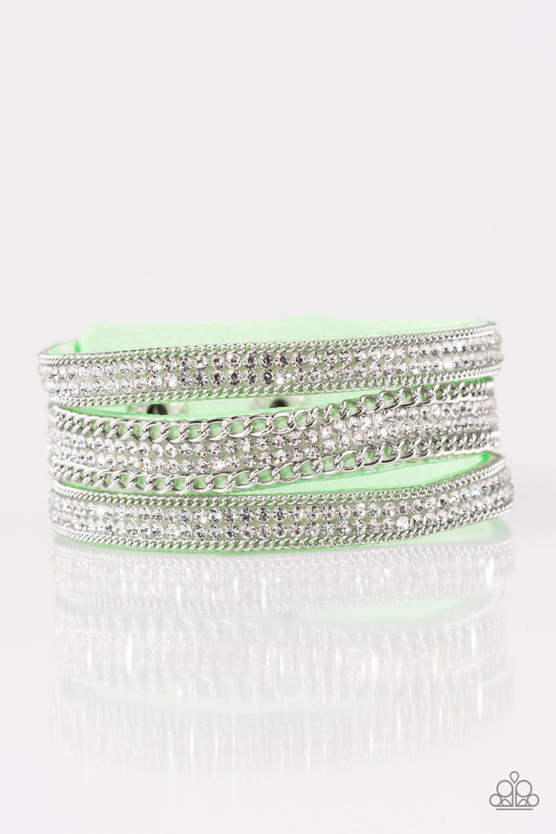 Dangerously Drama Queen Green Bracelet - Glitzygals5dollarbling Paparazzi Boutique
