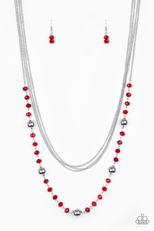 Paparazzi High Standards Red Necklace - Glitzygals5dollarbling Paparazzi Boutique