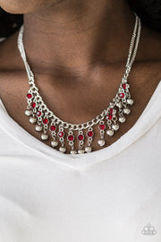 Pageant Queen Red Necklace - Glitzygals5dollarbling Paparazzi Boutique