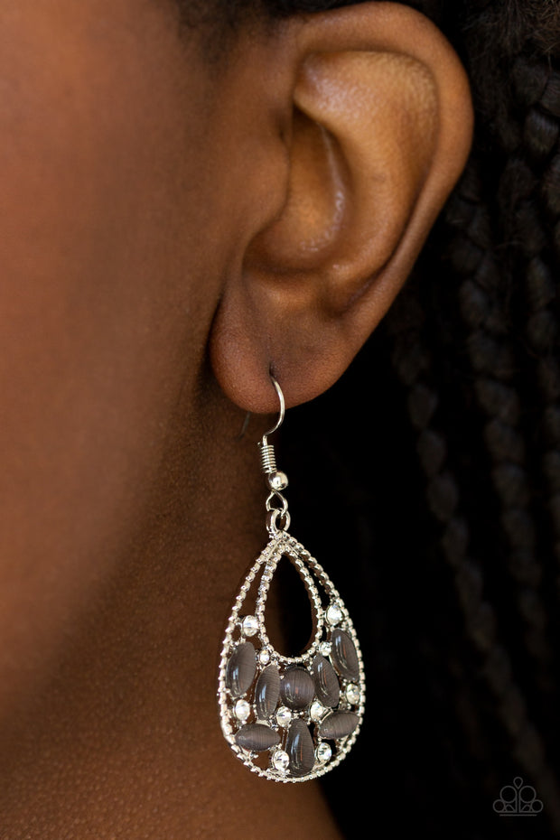 Paparazzi Just DEWing My Thing Silver Earrings - Glitzygals5dollarbling Paparazzi Boutique