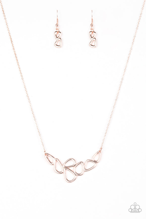 Paparazzi Vertigo Rose Gold Necklace