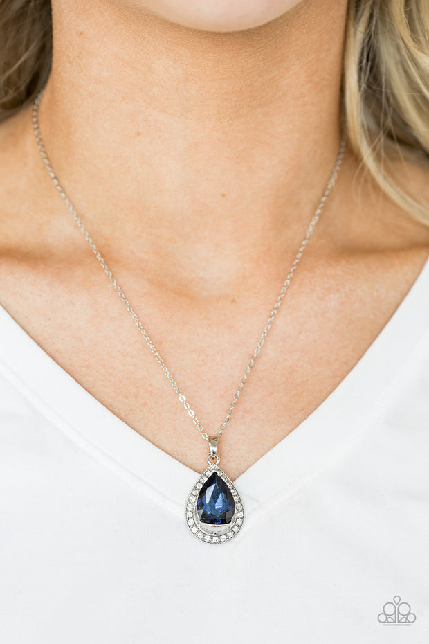 Because I'm Queen Blue Necklace - Glitzygals5dollarbling Paparazzi Boutique