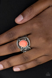Paparazzi Vacation Vibes Orange Ring - Glitzygals5dollarbling Paparazzi Boutique
