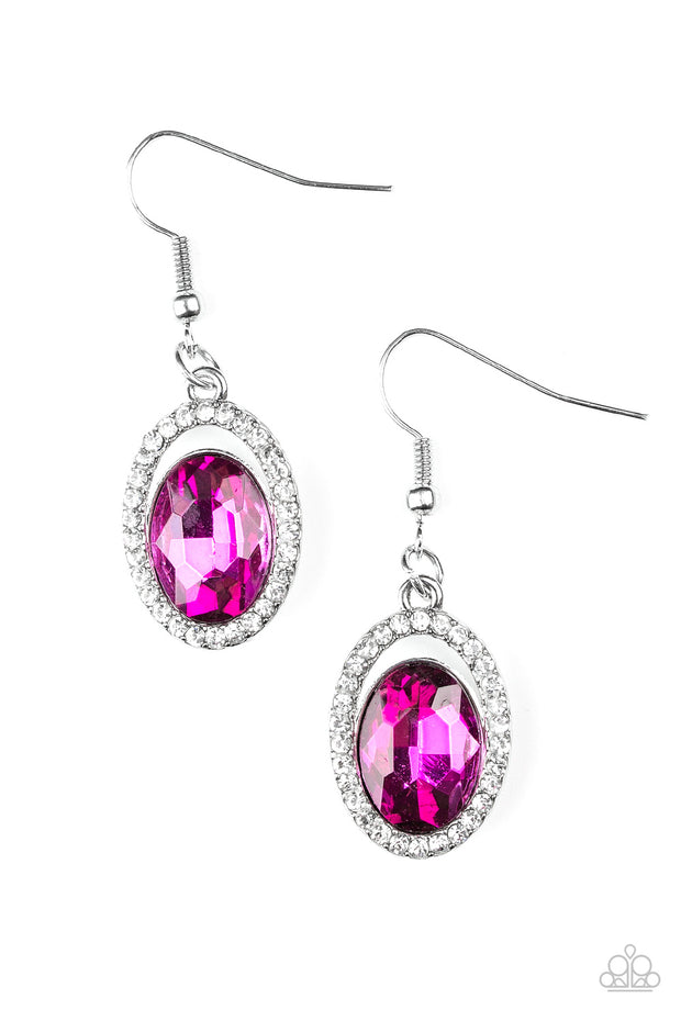 Imperial SHINE-ness Pink Earring - Glitzygals5dollarbling Paparazzi Boutique