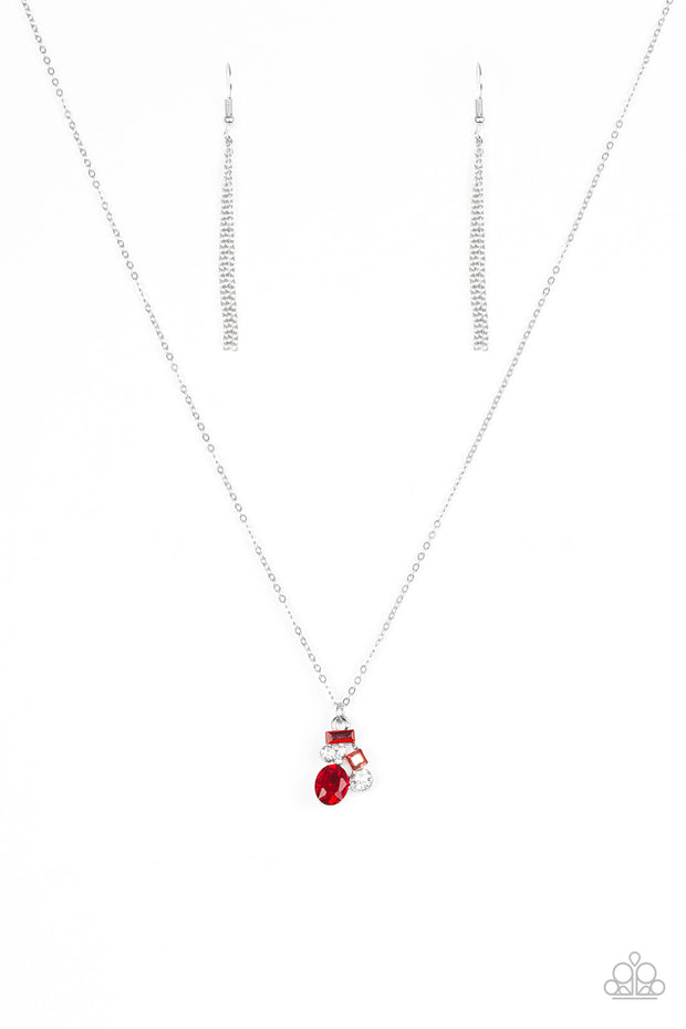 Paparazzi Time To Be Timeless Red Necklace - Glitzygals5dollarbling Paparazzi Boutique