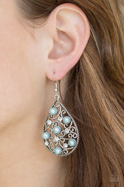 Paparazzi Glowing Vineyards Blue Earring - Glitzygals5dollarbling Paparazzi Boutique