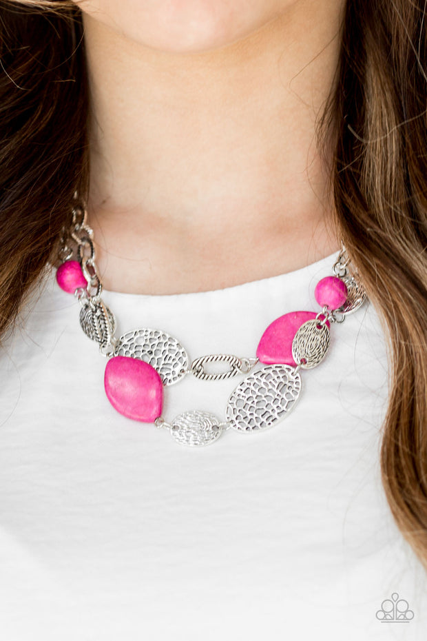 Paparazzi Second Nature Pink Necklace