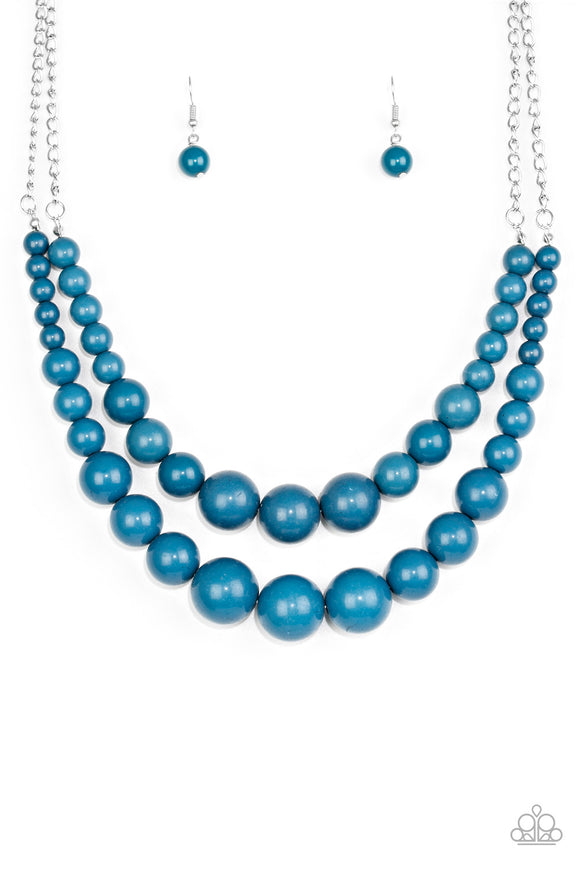 Paparazzi Full BEAD Ahead! Blue Necklace