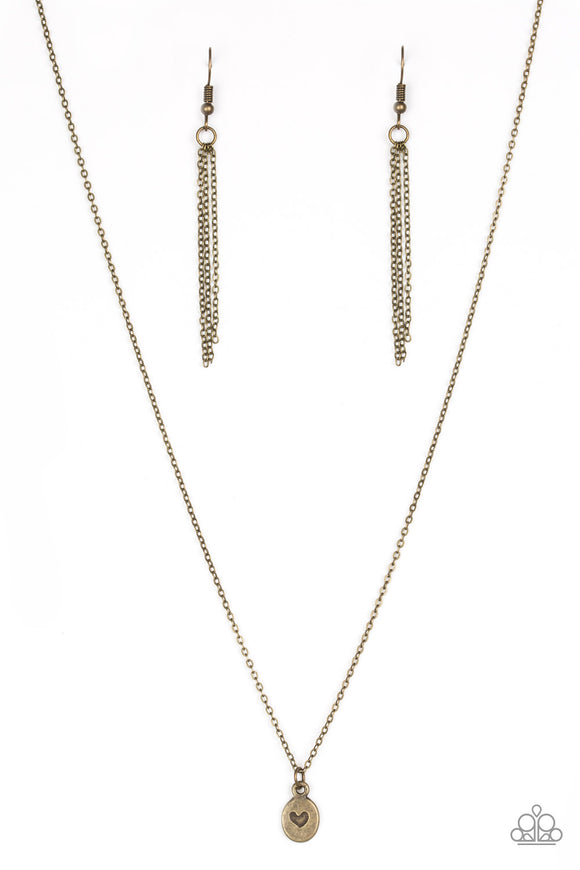 Paparazzi Live For Love Brass Necklace