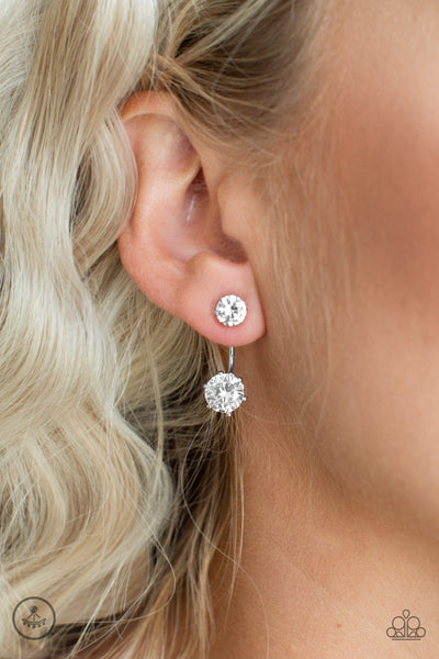 Paparazzi Starlet  Squad White Post Earrings - Glitzygals5dollarbling Paparazzi Boutique