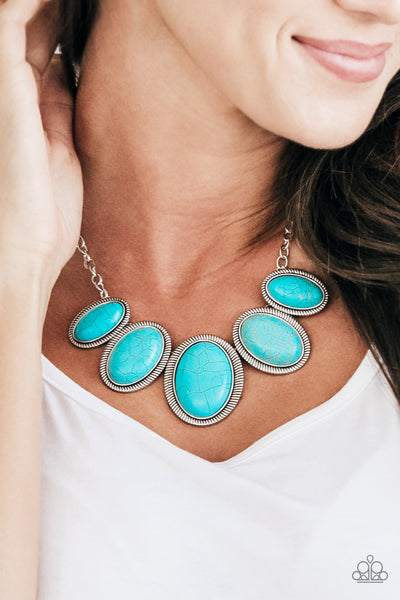 Paparazzi Noble Nomad Blue Necklace - Glitzygals5dollarbling Paparazzi Boutique