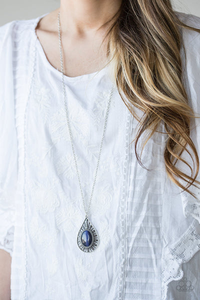 Paparazzi Total Tranquility Blue Moonstone Necklace - Glitzygals5dollarbling Paparazzi Boutique