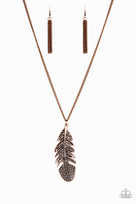 Paparazzi Free Bird Copper Necklace