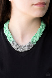 Brazilian Brilliance Green Paparazzi Necklace - Glitzygals5dollarbling Paparazzi Boutique