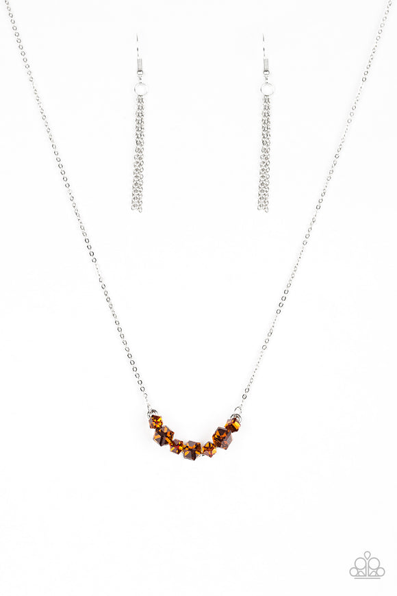 Loaded Dice - Brown Necklace