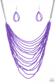 Bora Bombora Purple Necklace Paparazzi - Glitzygals5dollarbling Paparazzi Boutique