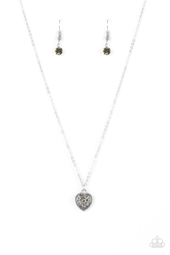 Paparazzi Fierce Flirt Silver Necklace