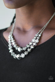 Paparazzi Strikingly Spellbinding Silver Necklace - Glitzygals5dollarbling Paparazzi Boutique