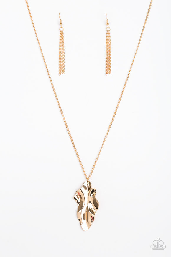 Paparazzi Fiercely Fall Gold Necklace