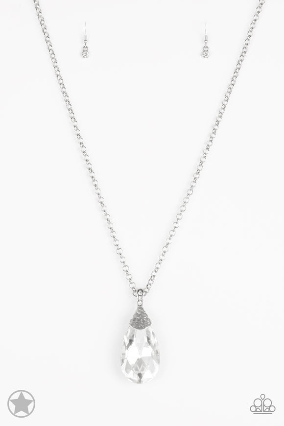 Spellbinding Sparkle White Blockbuster Necklace