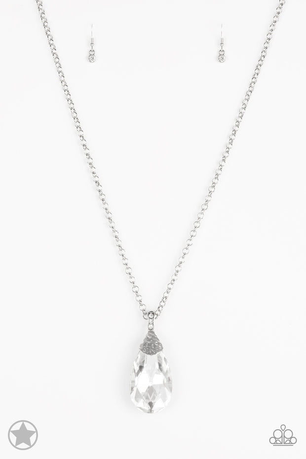 Spellbinding Sparkle White Blockbuster Necklace - Glitzygals5dollarbling Paparazzi Boutique