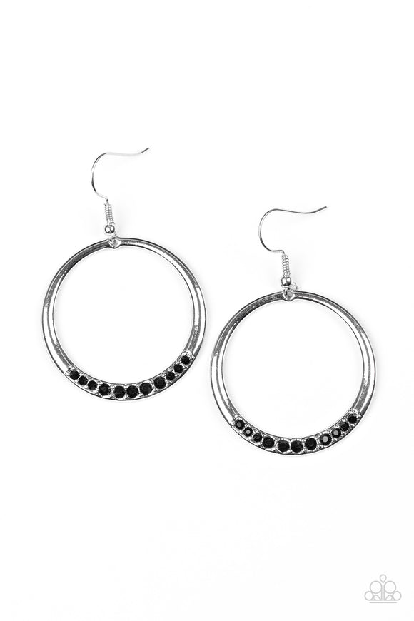 Paparazzi Morning Mimosas Black Earrings