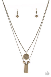Paparazzi SOL Quest Brass Necklace