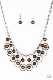 Really Rococo Brown Necklace - Glitzygals5dollarbling Paparazzi Boutique