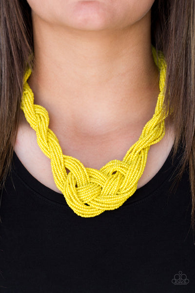 Paparazzi A Standing Ovation Yellow Necklace - Glitzygals5dollarbling Paparazzi Boutique