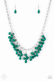 Paparazzi Modern Macarena Green Necklace - Glitzygals5dollarbling Paparazzi Boutique