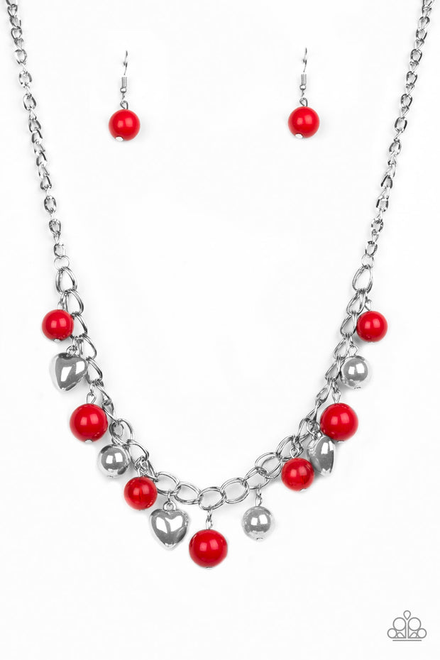 Paparazzi Summer Fling Red Necklace - Glitzygals5dollarbling Paparazzi Boutique