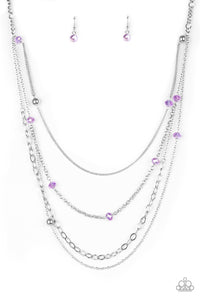 Glamour Grotto Purple Necklace
