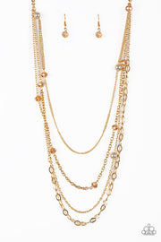 Paparazzi Glamour Grotto Gold Necklace - Glitzygals5dollarbling Paparazzi Boutique