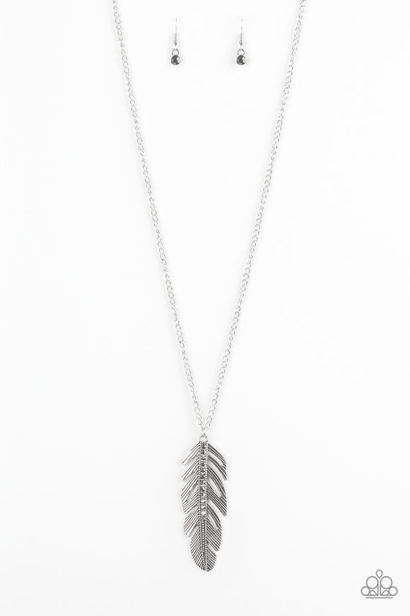Paparazzi Sky Quest Silver Feather Necklace
