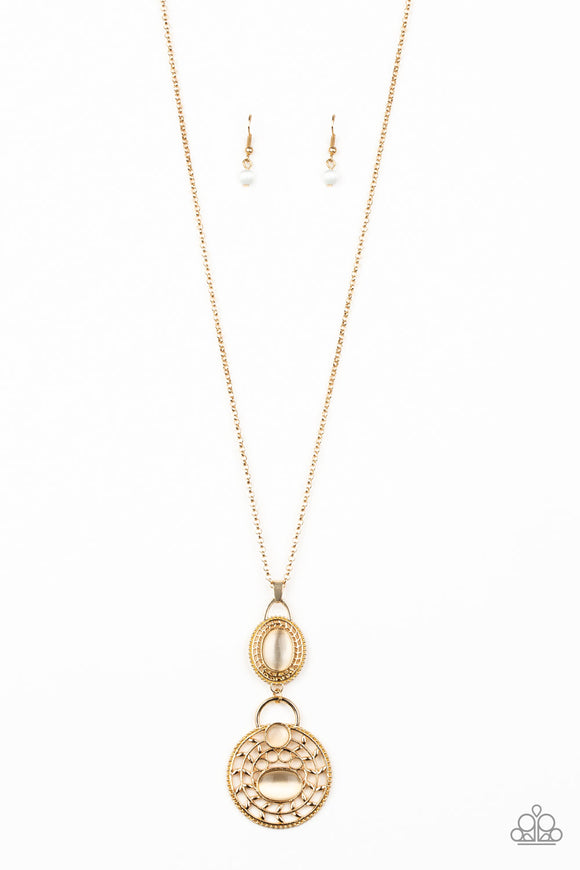 Paparazzi Hook, VINE, and Sinker Gold Necklace