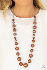 Pearl Prodigy - Brown - Glitzygals5dollarbling Paparazzi Boutique