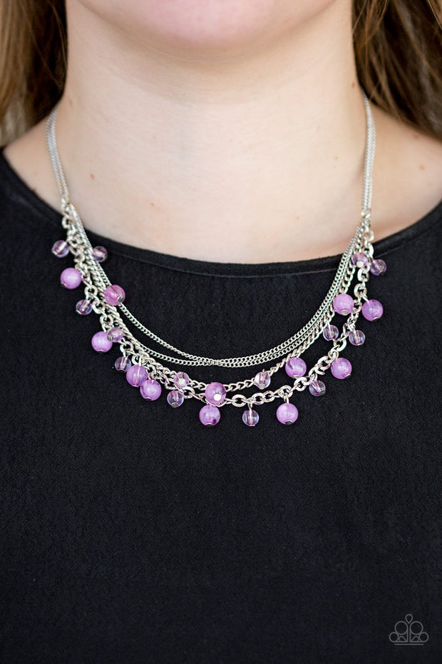 Paparazzi Ocean Odyssey - Purple Necklace - Glitzygals5dollarbling Paparazzi Boutique