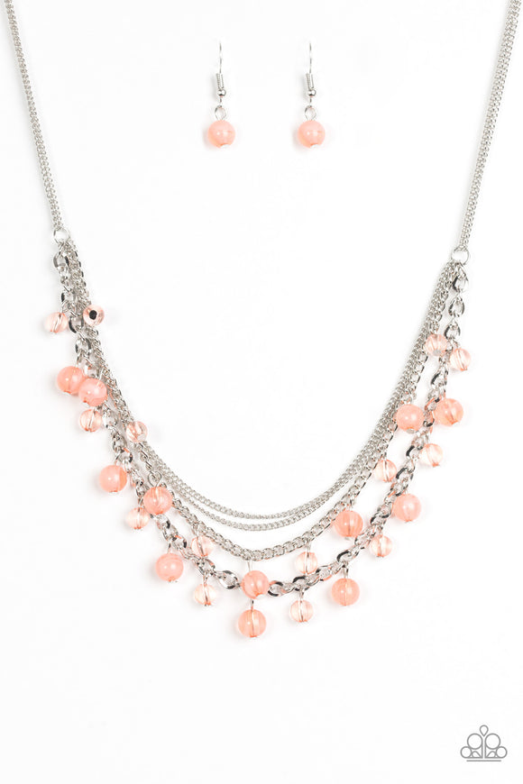 Paparazzi Ocean Odyssey - Orange Peach Necklace