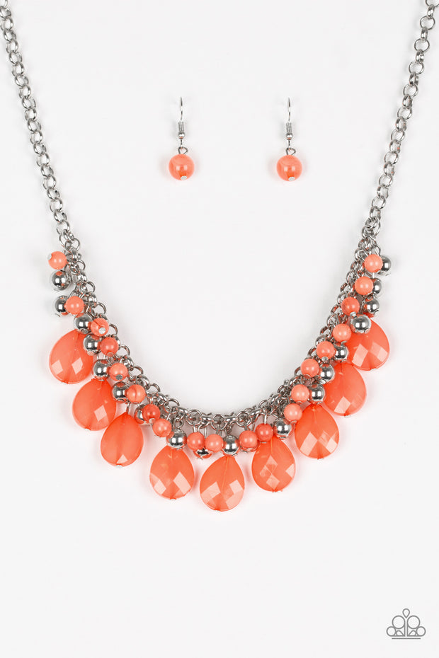 Trending Tropicana Orange Necklace EXCLUSIVE Party Pack - Glitzygals5dollarbling Paparazzi Boutique