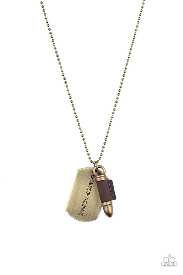 PREORDER Proud Patriot - Brass Bullet Dog Tag Necklace