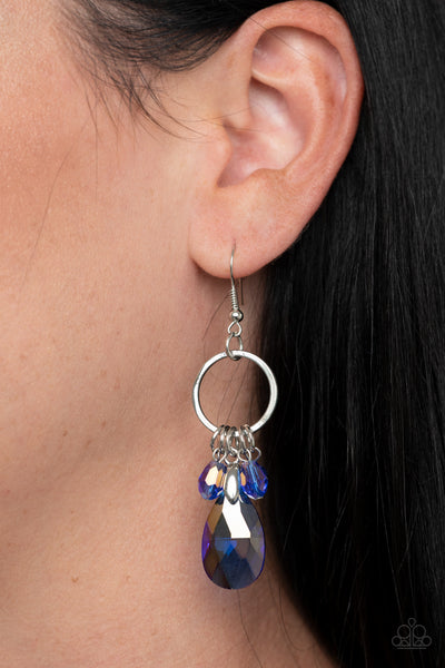 Unapologetic Glow - Blue Earrings - Glitzygals5dollarbling Paparazzi Boutique