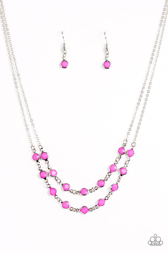 Summer Girl - Purple Necklace