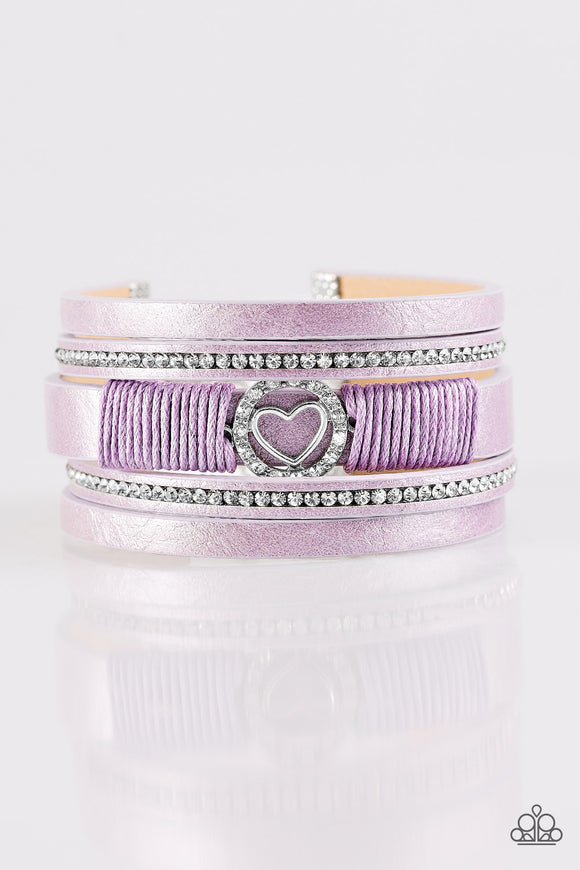 It Takes Heart Purple Urban Bracelet
