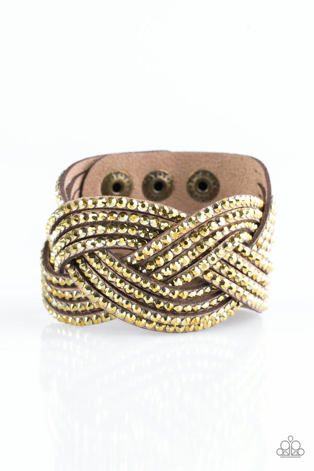 Paparazzi Top Class Chic - Brass Bracelet - Glitzygals5dollarbling Paparazzi Boutique