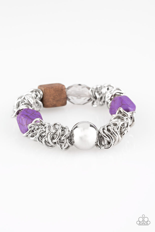 Mesmerizingly Magmatic Purple Bracelet