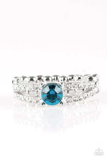 Paparazzi Dream Sparkle - Blue Rhinestones - Silver Ring