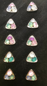 Pastel Gems in a Triangle Ring LOTS of BLING Little Diva