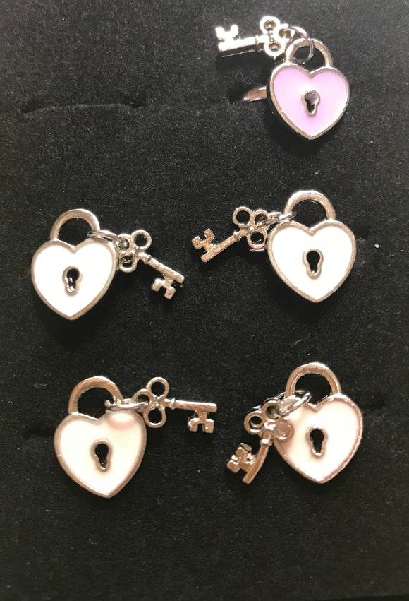 Hearts with Lock Little Diva Rings