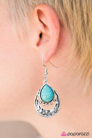Paparazzi Take Me to the River Turquoise Blue Earrings - Glitzygals5dollarbling Paparazzi Boutique