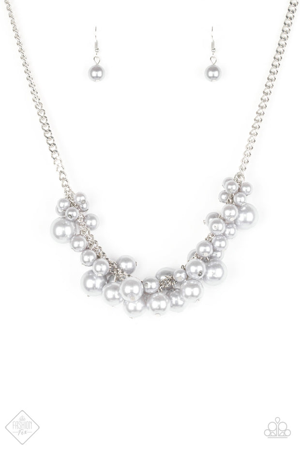 Glam Queen Silver Necklace Fashion Fix EXCLUSIVE - Glitzygals5dollarbling Paparazzi Boutique